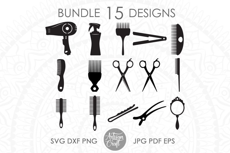 Hair stylist SVG, Hair Dresser, hair styling clip art example image 1