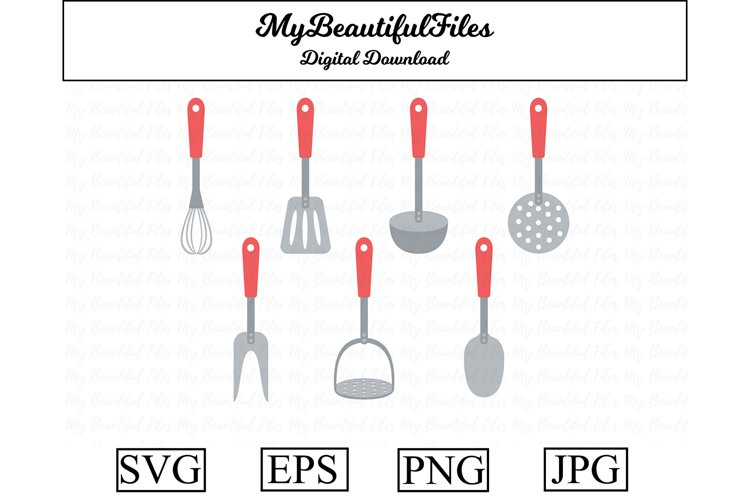 kitchenware SVG - Cute cooking SVG, EPS, PNG and JPG example image 1