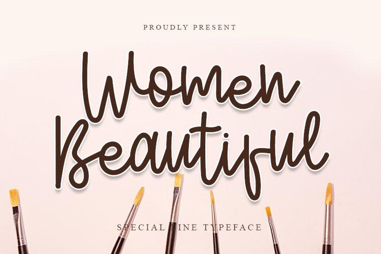Women Beautiful - Smart Line Font example image 1