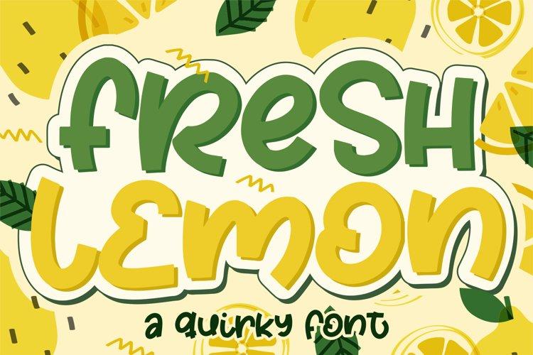 Fresh Lemon example image 1