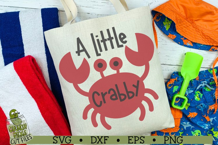 A Little Crabby Beach Crab SVG Cut File