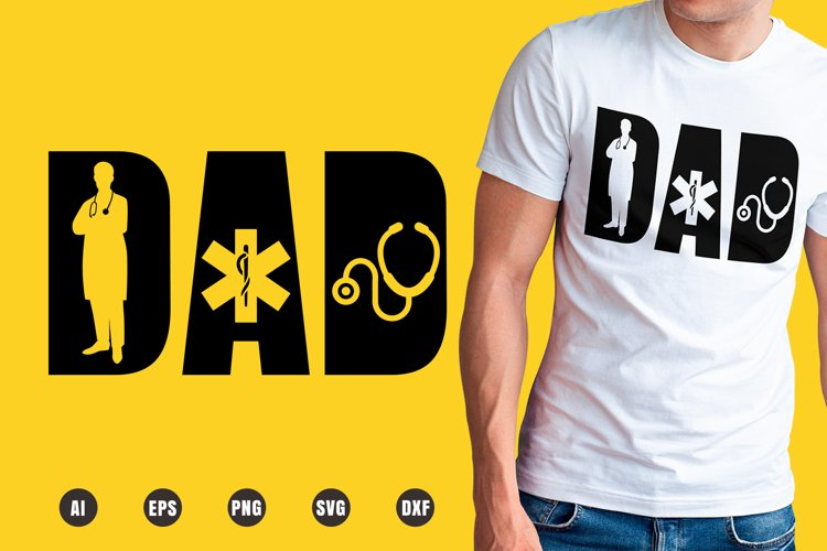 Dad Doctor SVG - Father's Day Designs example image 1