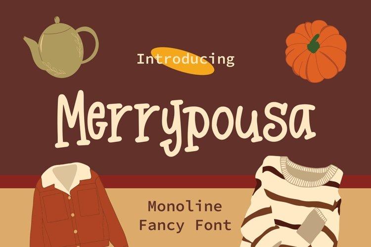 Web Font Merrypousa - Monoline Fancy Font example image 1