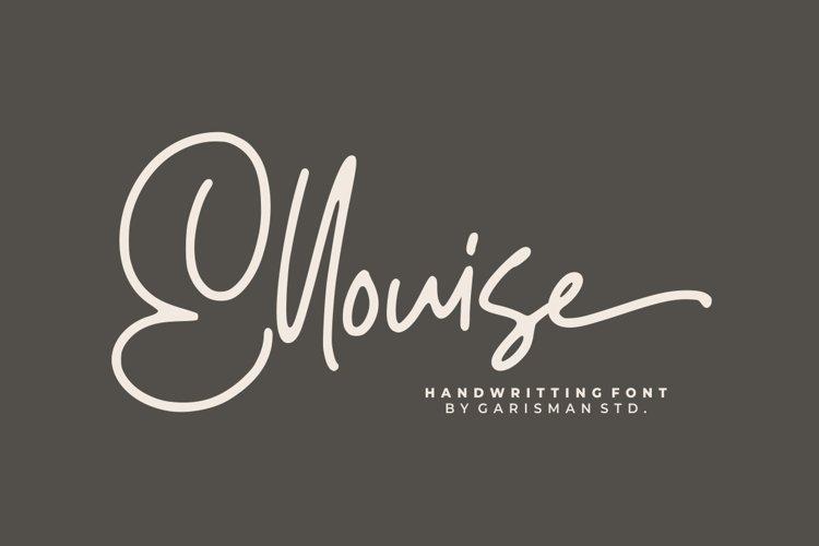 Ellouise - Handwritten Font example image 1