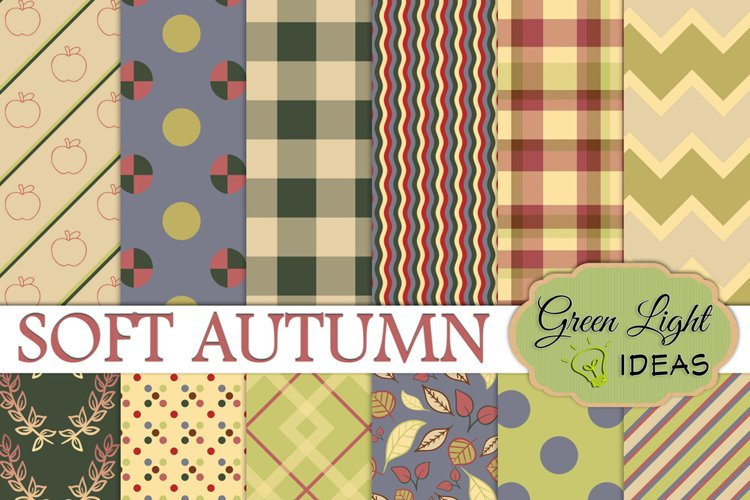 Soft Autumn Digital Papers, Fall Backgrounds, Fall Digital Papers