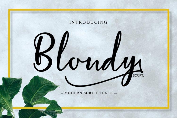Blondy Script example image 1