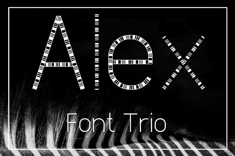 Alex Font Trio example image 1