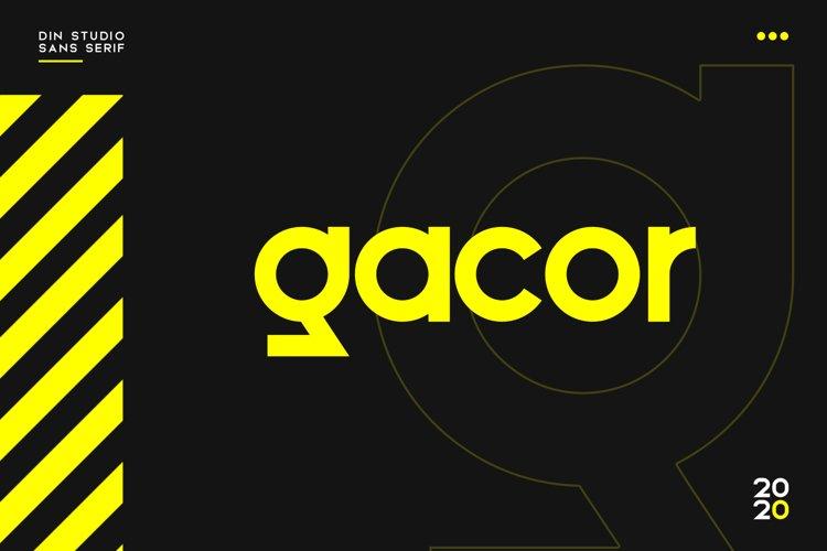 Gacor-Urban Sans Serif Font example image 1