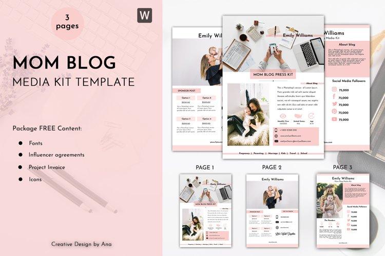 Mom Media Kit Template | Easy to Edit