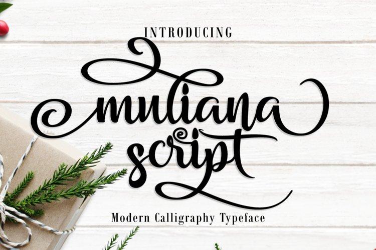 Muliana Script Font example image 1