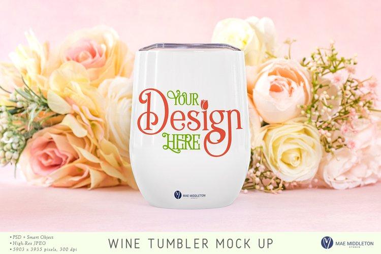 Wine Tumbler Mock up | Mothers Day, Wedding, psd & jpg