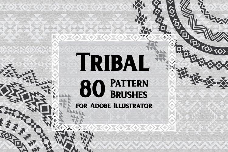 80 Tribal Pattern Brushes for Adobe Illustrator example image 1