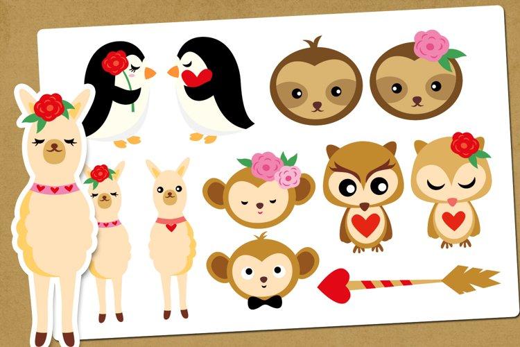 Animal couples - Valentine Illustrations