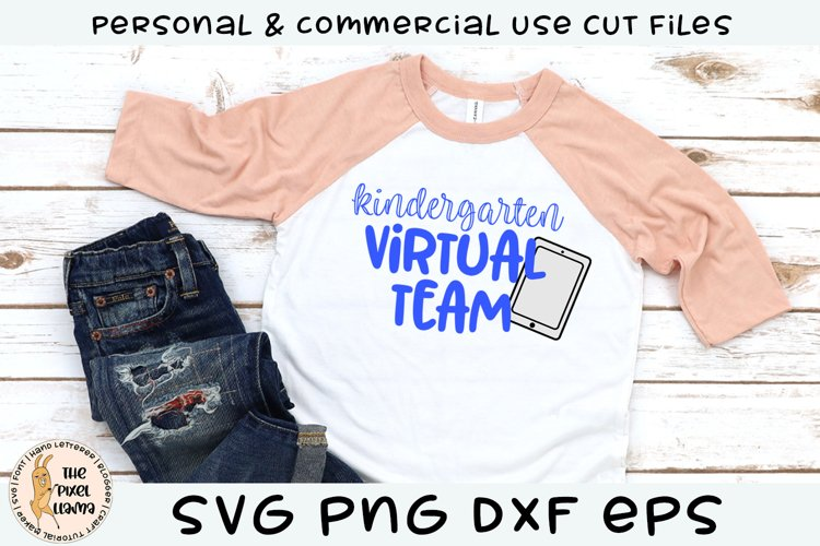 Kindergarten Virtual Team School SVG example image 1