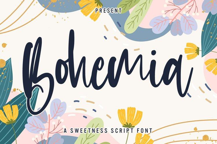 Bohemia - Sweet Script Font example image 1