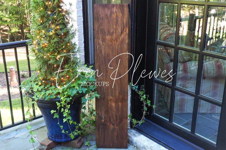Vertical Sign Mockup   Porch Sign Mock Up   Outdoor Sign Jpg