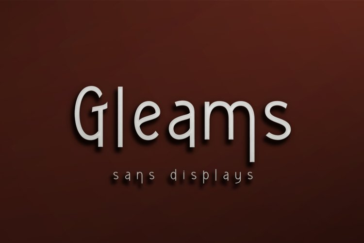 Gleams sans display example image 1