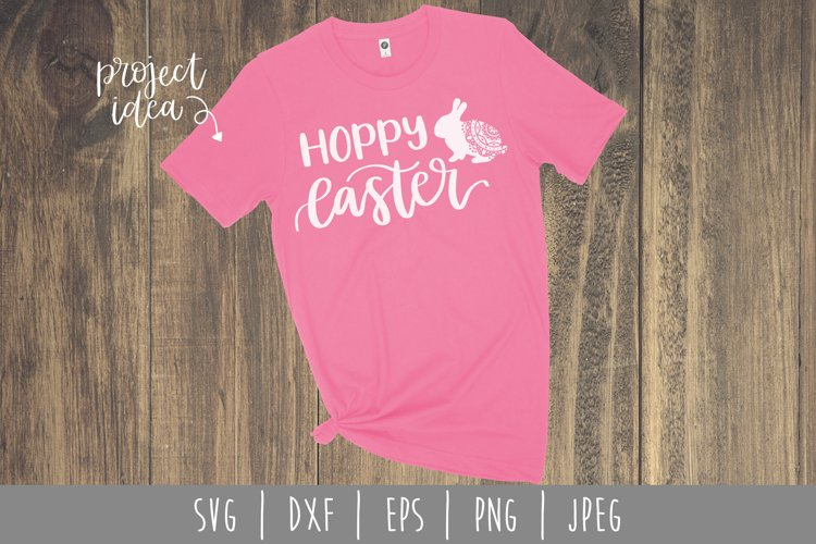 Hoppy Easter SVG, DXF, EPS, PNG, JPEG
