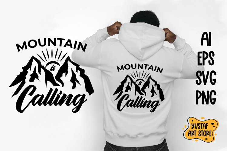 Mountain is calling cut file and sublimation.Camping