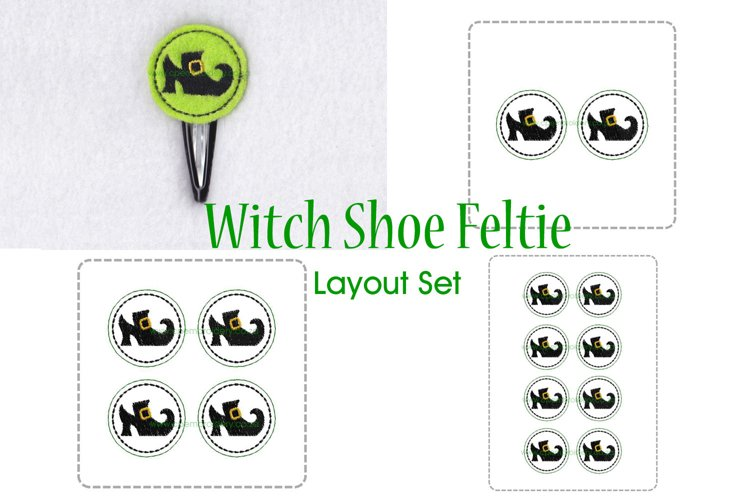 Witch Shoe ITH Halloween Feltie Embroidery Design