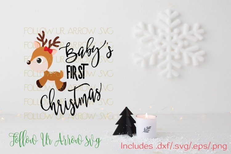 Baby's First Christmas Girl and Boy Reindeer  example image 1