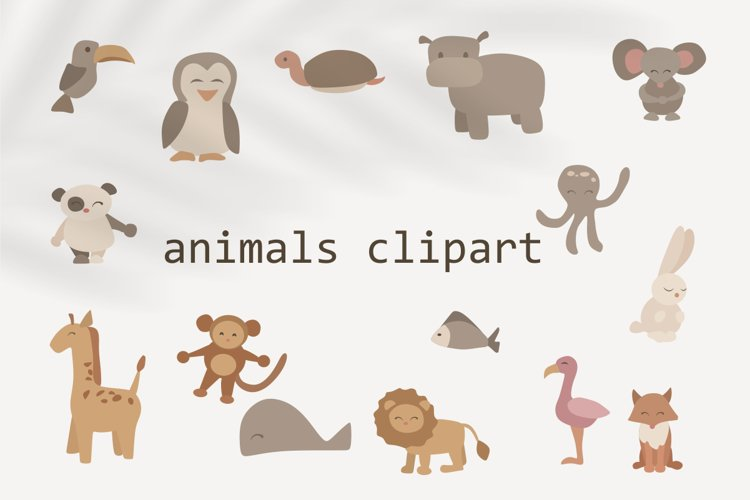children's clipart with animals - animals in vector-fish svg example image 1