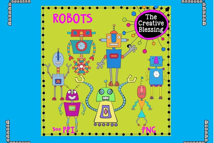 Hand Drawn Robots example image 1