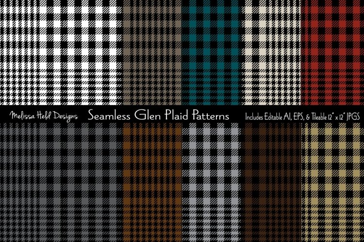 Seamless Glen Plaids example image 1