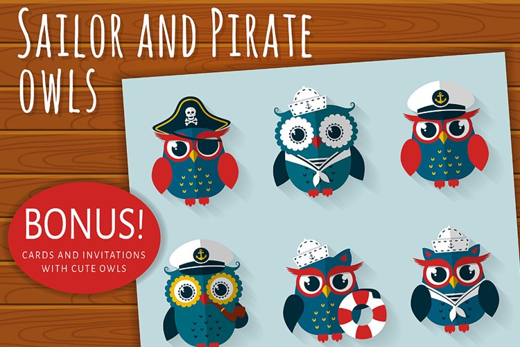 Sailor and pirate owls