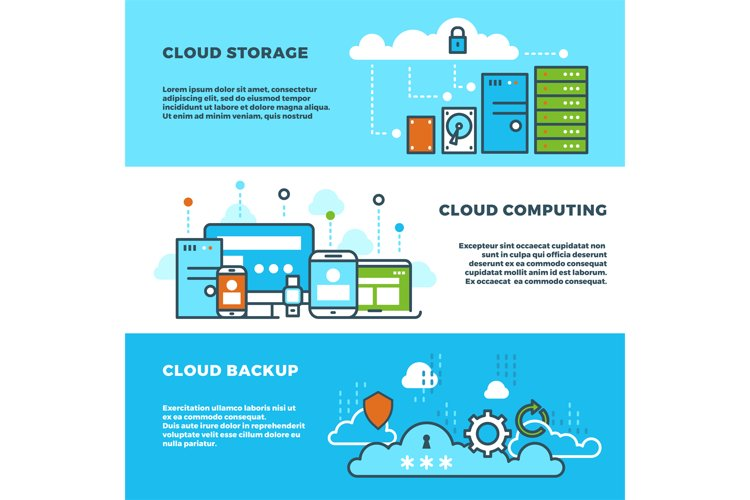 Cloud computing solution, data storage business services, in example image 1