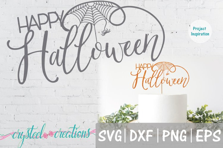 Happy Halloween Cake Topper SVG, DXF, PNG,EPS