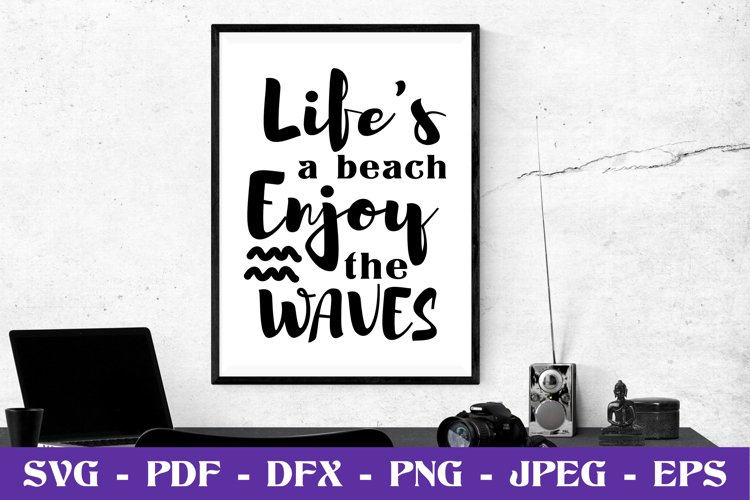 Life's a beach enjoy the waves SVG cut file example image 1