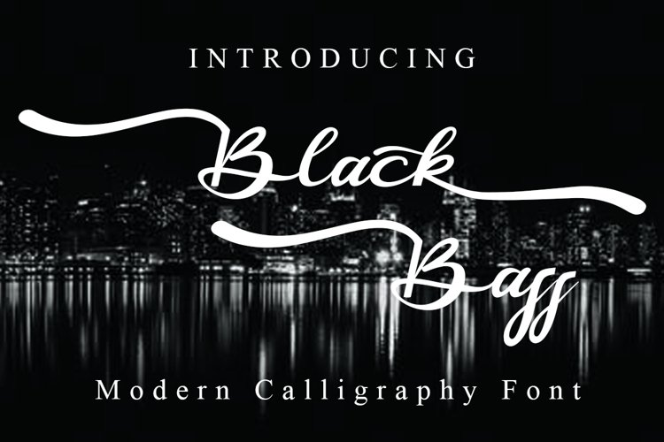 Black Bass Modern Calligraphy Font example image 1