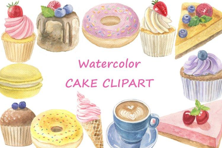 Watercolor cake clipart