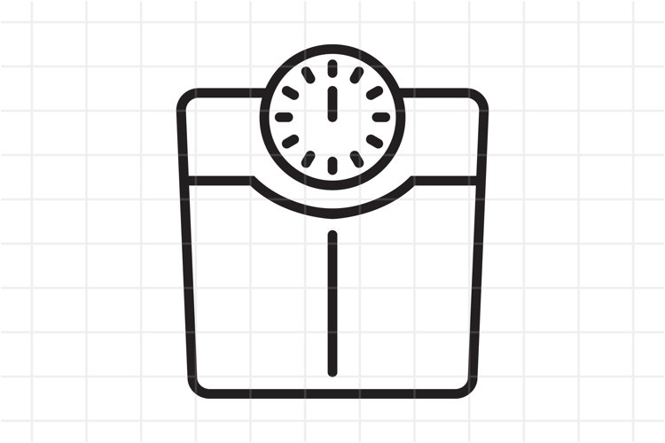 Bathroom Weight Scale Line Icon Vector Eps Svg Ai 1081237 Icons Design Bundles