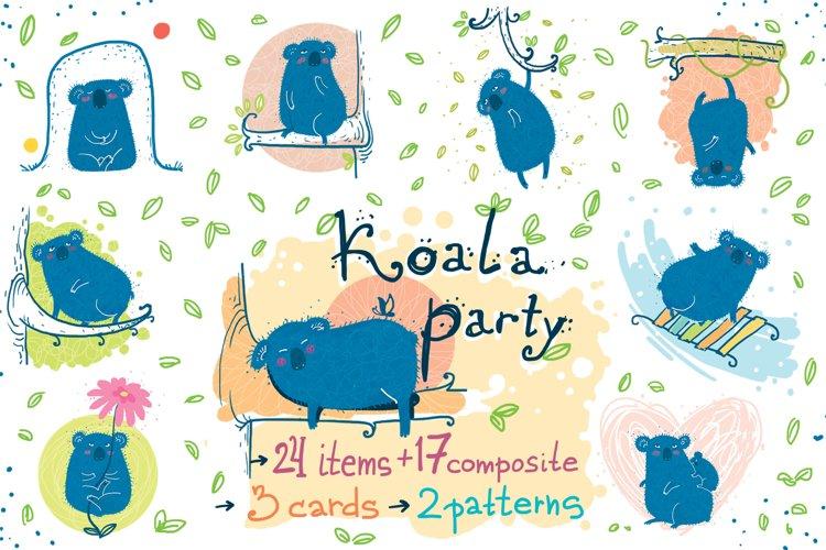 Koala Party -9 koalas and the nature example image 1
