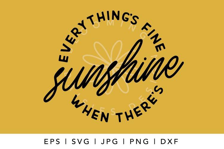 Sunshine, Summer SVG, Tshirt or tote bag designs example 1