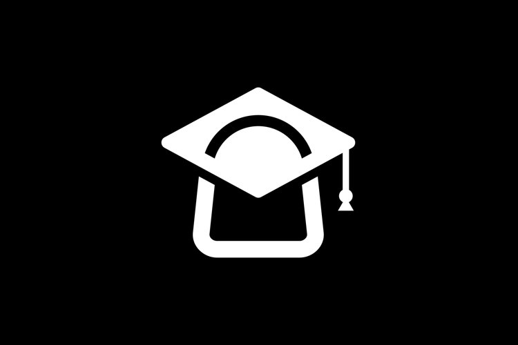Shopping Bag And Graduation Cap Vector example image 1
