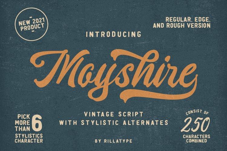Moyshire - Vintage Script example image 1