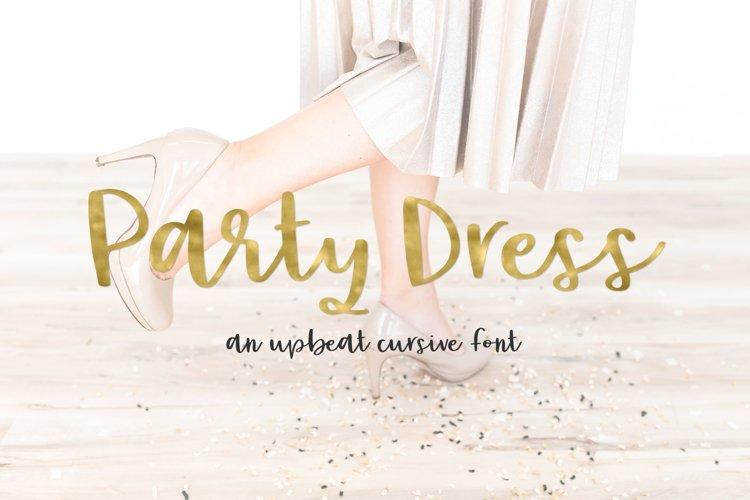Party Dress Cursive Font example image 1