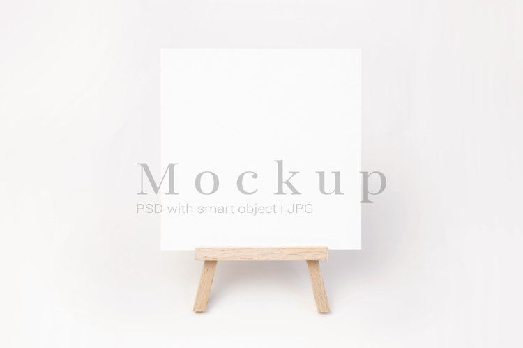 Square Card Mockup,Minimalist Mockup,Greeting Card Mockup example image 1