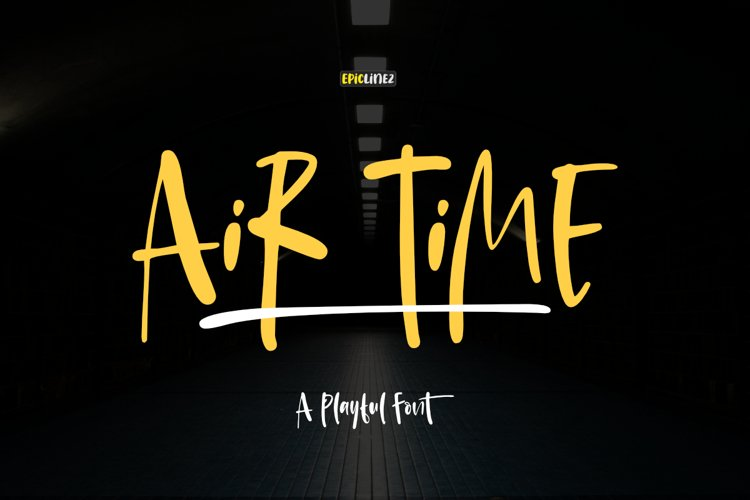 Air Time - A Fun Handwritten Font.