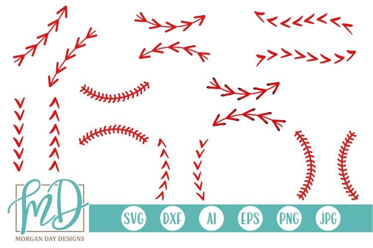Baseball - Softball - Baseball Laces - Baseball Stitches SVG