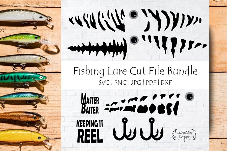 Fishing Lure Bundle & Master Baiter Keeping It Reel Text