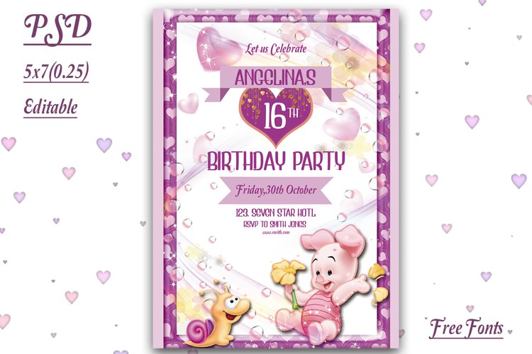 Kids Birthday Invitation Card