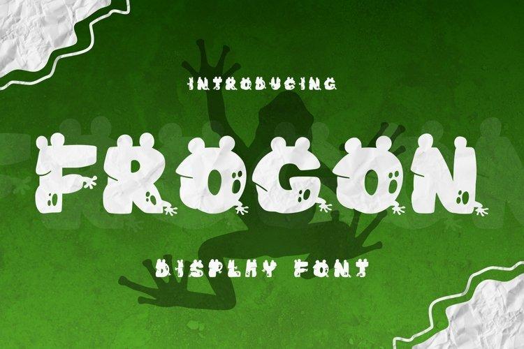 Web Font Frogon Font example image 1