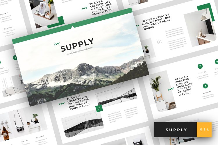 Supply - Creative Google Slides Template example image 1
