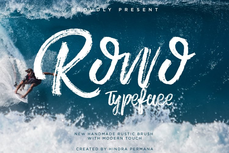 Rowo Typeface + Bonus example image 1