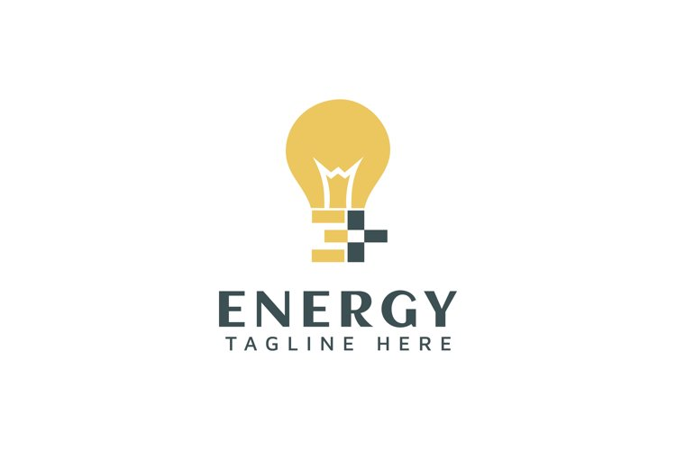Letter E with lamp for logo design inspiration example image 1