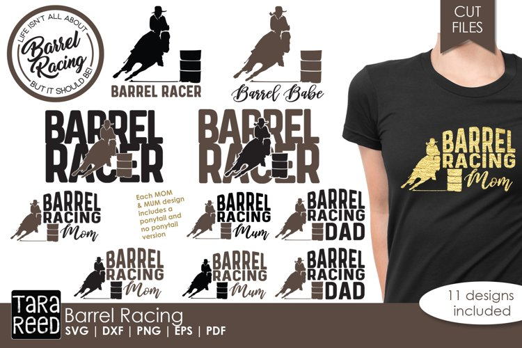 Barrel Racing - Horse SVG and Cut Files for Crafters